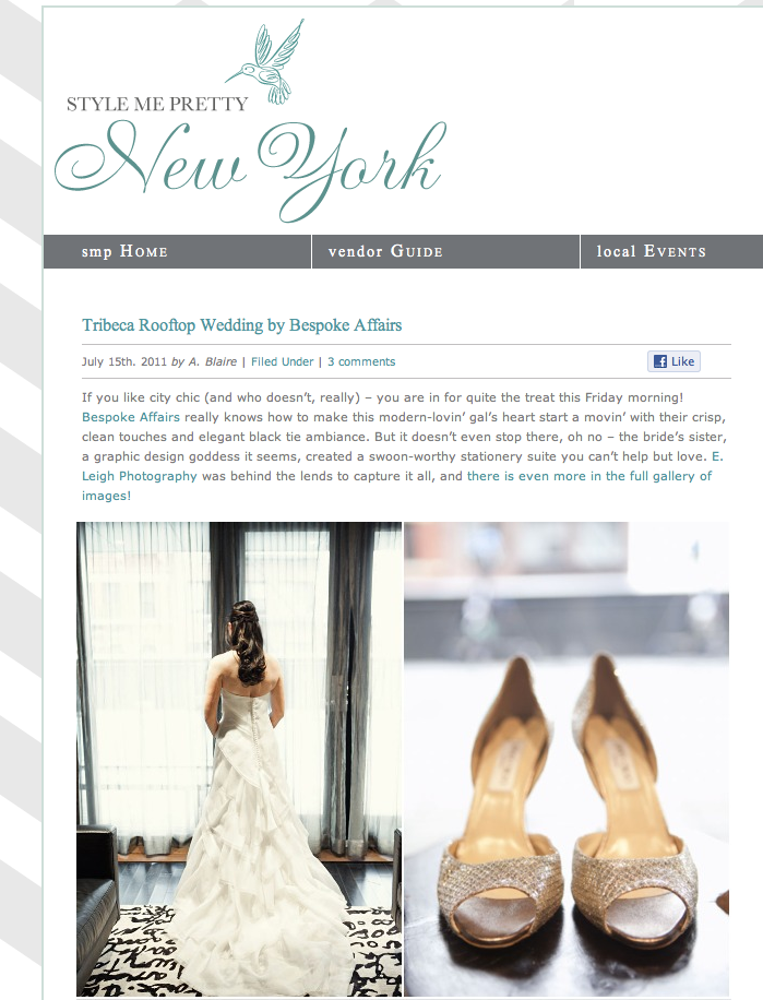 Screen shot 2011 07 15 at 10.01.56 AM Were featured on Style Me Pretty!